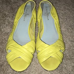 Yellow Cole Haan Nike Air Leather Flats